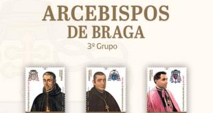 CTT lançam novos selos dos Arcebispos de Braga