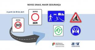 Novos sinais de trânsito nas estradas portuguesas