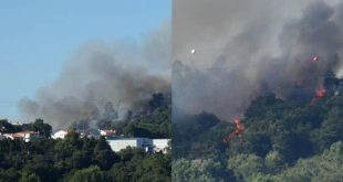 Bombeiros levam 8 horas para combater incêndio em Braga