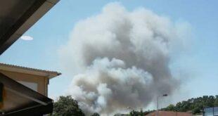 Incêndio deflagra na freguesia de Tadim