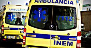 Colisão entre três viaturas provoca um ferido ligeiro em Braga