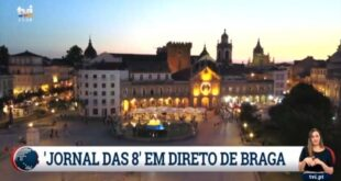 Jornal das 8 da TVI transmitido desde Braga para o país e o mundo