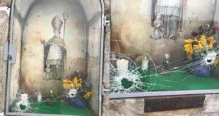 Nicho de São Brás vandalizado em Braga