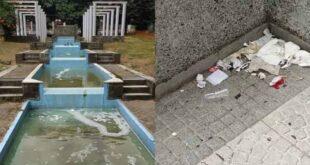 Moradores denunciam falta de limpeza na Praça do Bocage