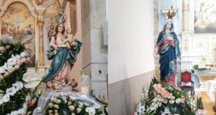Nossa Senhora da Misericórdia e Santa Maria celebradas em Ferreiros