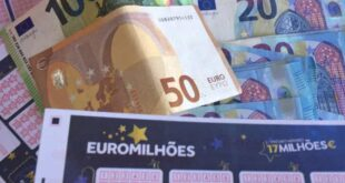 Apostador português ganha 1,3 milhões de euros no Euromilhões