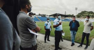Estádio São Miguel preparado para receber adeptos nas bancadas