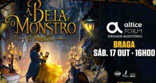 """Passatempo: Oferta de bilhetes para """"A Bela e o Monstro – O Musical"""" em Braga"""