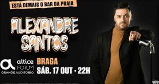 Passatempo: Oferta de bilhetes para espetáculo de humor de Alexandre Santos