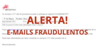 Atenção a e-mails fraudulentos em nome dos CTT