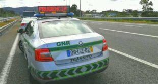 64 acidentes registados nas últimas 24 horas pela GNR