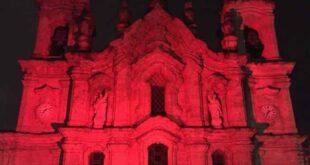 Basílica dos Congregados ilumina-se de vermelho para recordar cristãos perseguidos