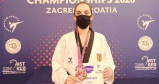 SC Braga Taekwondo: Joana Cunha conquista medalha de bronze em Zagreb