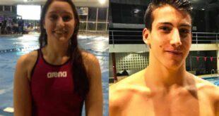 Tamila Holub e José Lopes vencem a medalha de ouro nos Nacionais de Natação