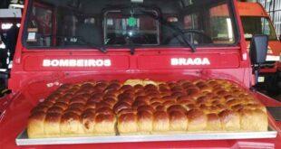Doçaria oferece moletinhos aos Bombeiros Voluntarios de Braga
